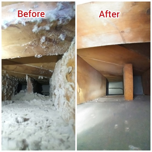 Before and After of Air Duct Cleaning
